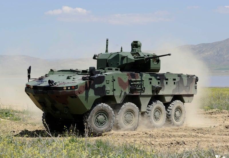 Otokar exhibits ARMA 8x8 armoured vehicle and UCOK turret system at DSEI 2017