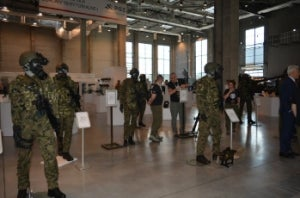 PCO presents products during pro defense fair