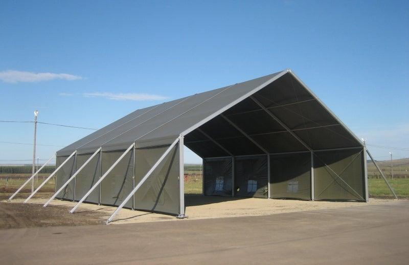 Military aircraft hangars and maintenance shelters