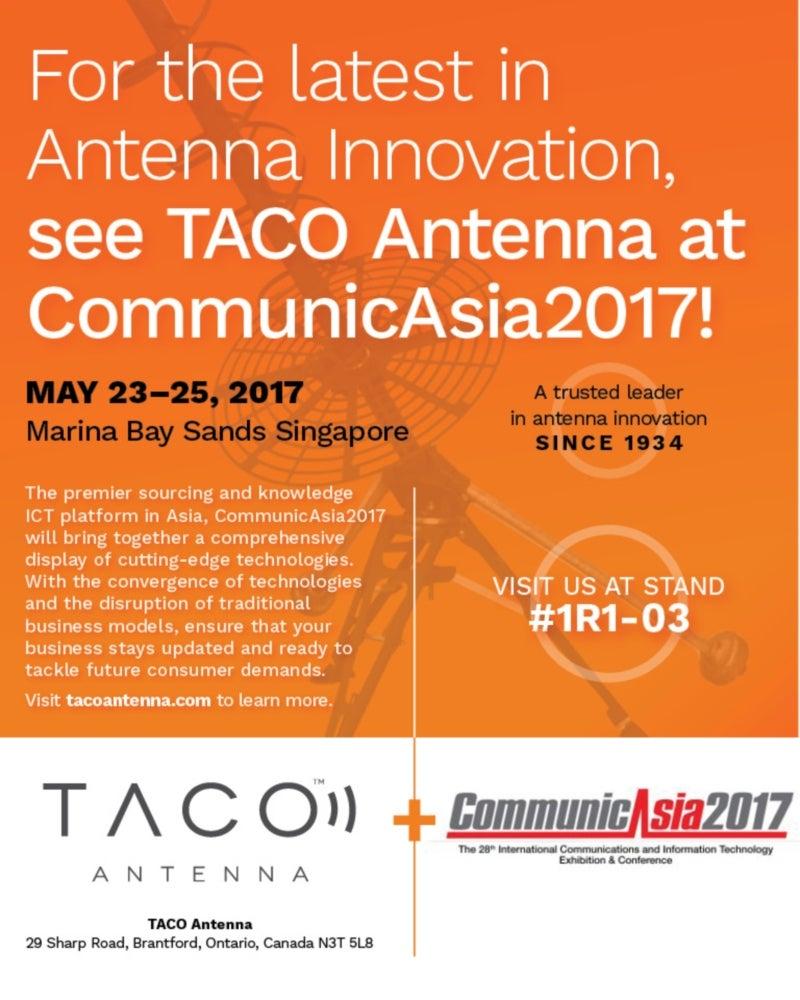 TACO attending CommunicAsia 2017
