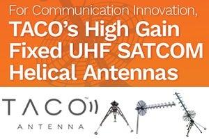 TACO announces new fixed UHF satcom antenna video