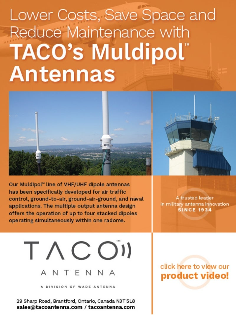 Taco announces new muldipol ground-to-air antenna video