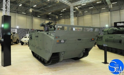 The new-generation Tulpar-S armoured combat vehicle was unveiled at the IDEF 2015 exhibition.