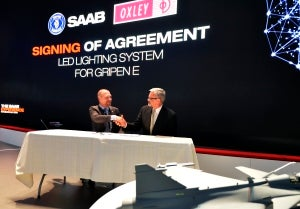 Oxley signs agreement with Saab at Farnborough international air show