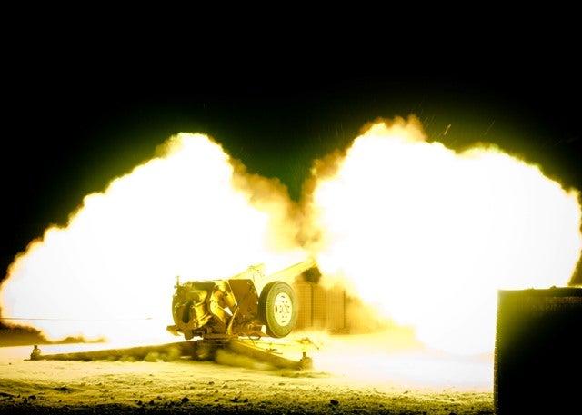 Afghan_D30 battery firing