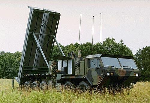Terminal High Altitude Area Defense (THAAD) radar weapon system
