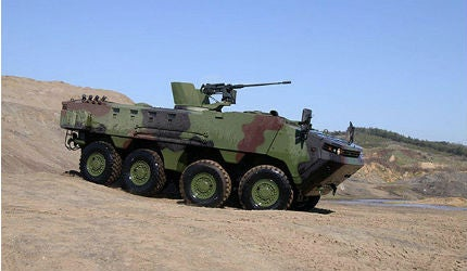 ARMA 8x8 armoured tactical vehicle