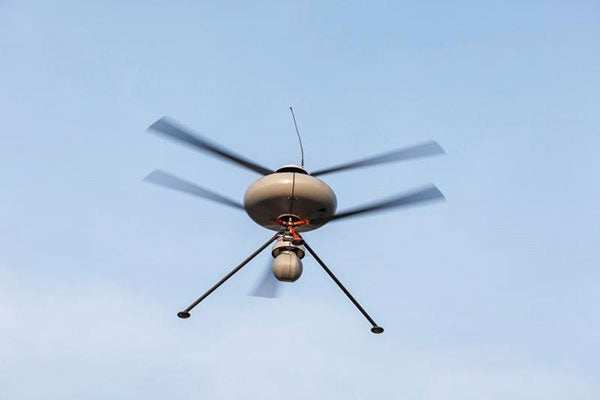 IT180-3EL-I UAV features three-blade contra-rotating rotors.