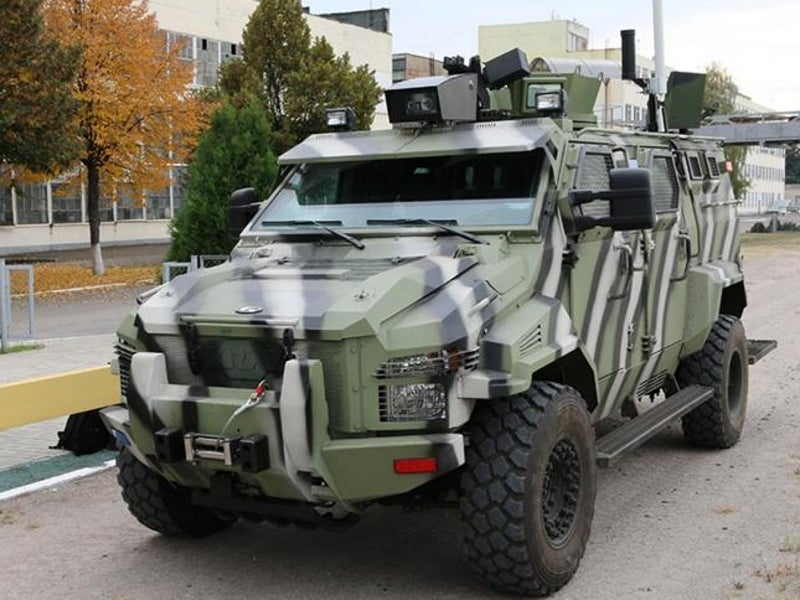 KrAZ-Spartan self-driving armoured vehicle