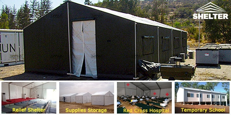 Relief shelters