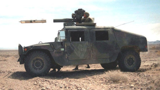 ube-Launched, Optically-Tracked, Wireless (TOW) missile