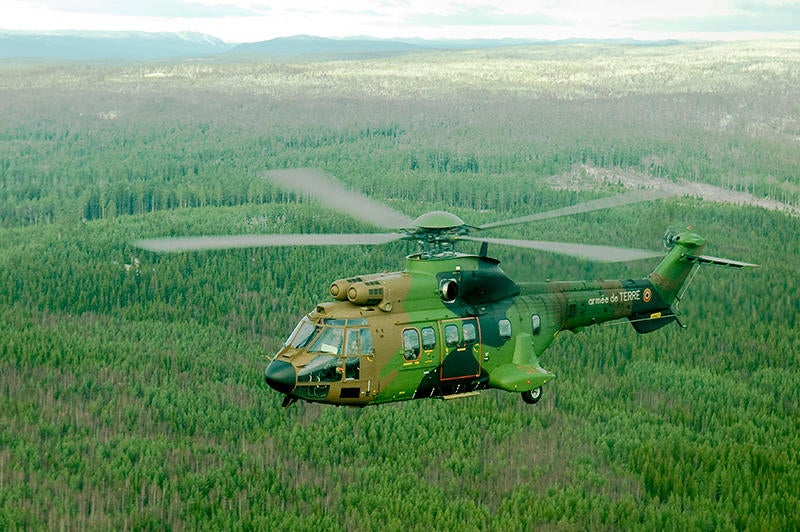AS532 Cougar helicopter